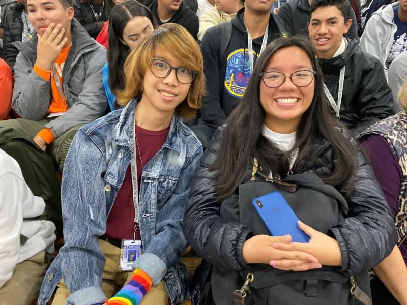 Hercules High juniors Emilio De La Paz (left) and Penelope Wu are applying to UCs.