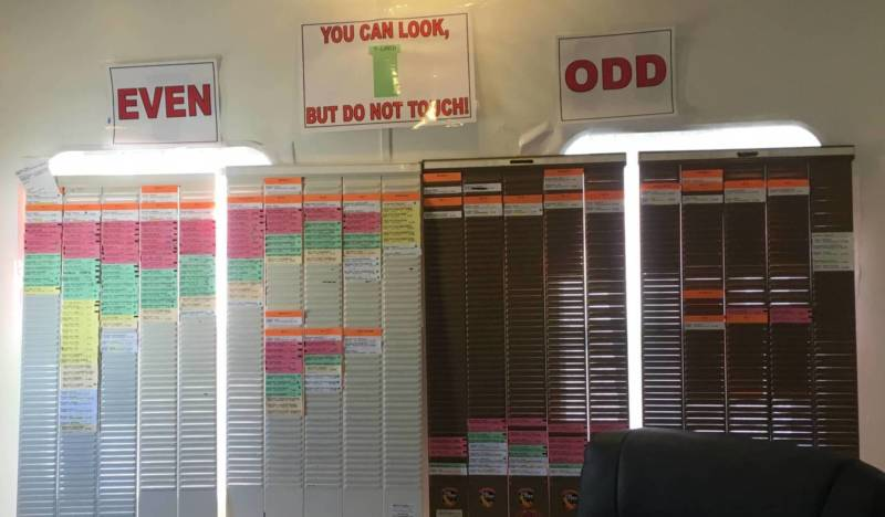 """Boards covered in so-called """"t-cards"""" organize where firefighting resources will be allocated each day."""