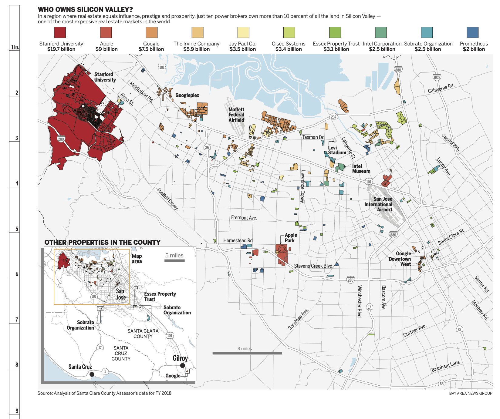 What Now for Stanford's Ambitious Plans for Growth? | KQED News Santa Clara County Essor Map on