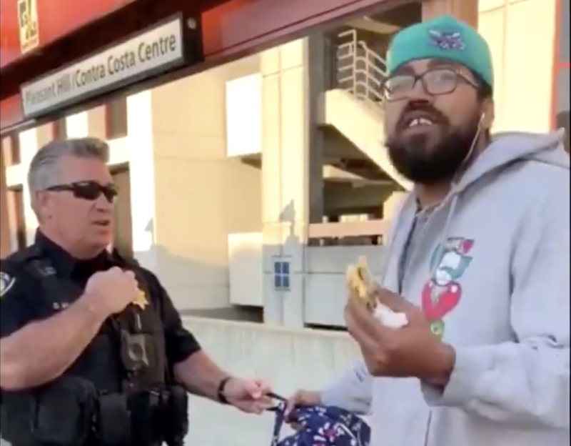 BART Officers Detain, Handcuff and Cite Man Spotted Eating Sandwich on Platform