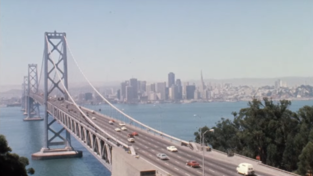 The western span of the Bay Bridge in 1973. KQED