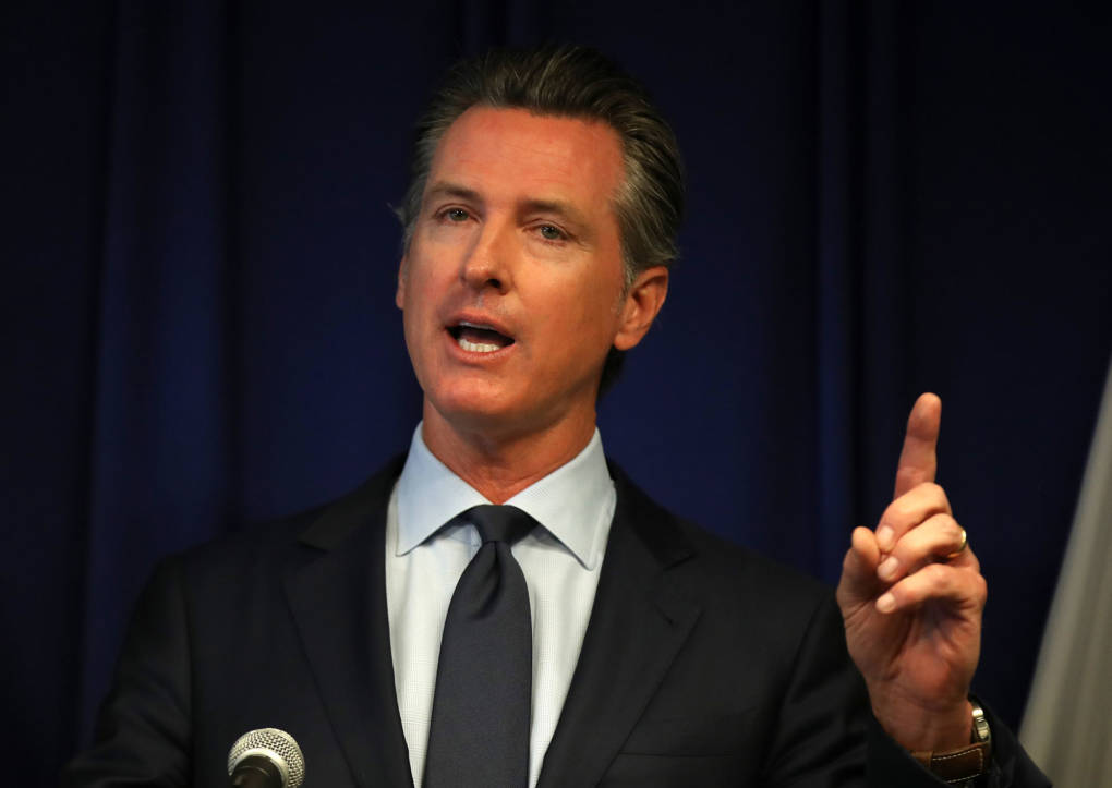 California Gov. Gavin Newsom speaks during a news conference at the California Justice Department on Sept. 18, 2019, in Sacramento.