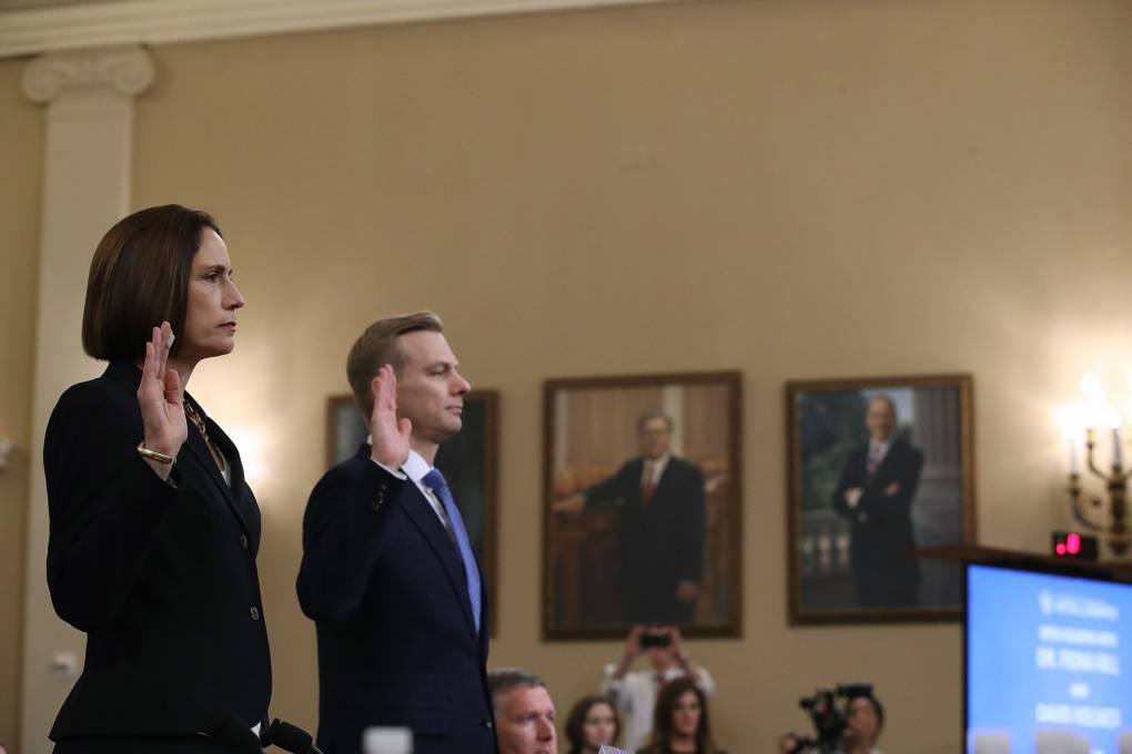 WATCH: Hill Denounces 'Fictional Narrative' About Ukraine; Holmes Details Trump Call