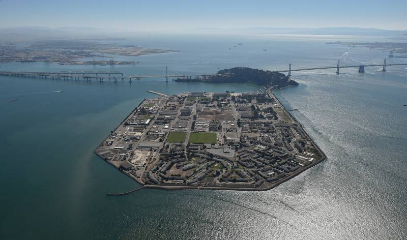 An aerial photo of Treasure Island from 2015.