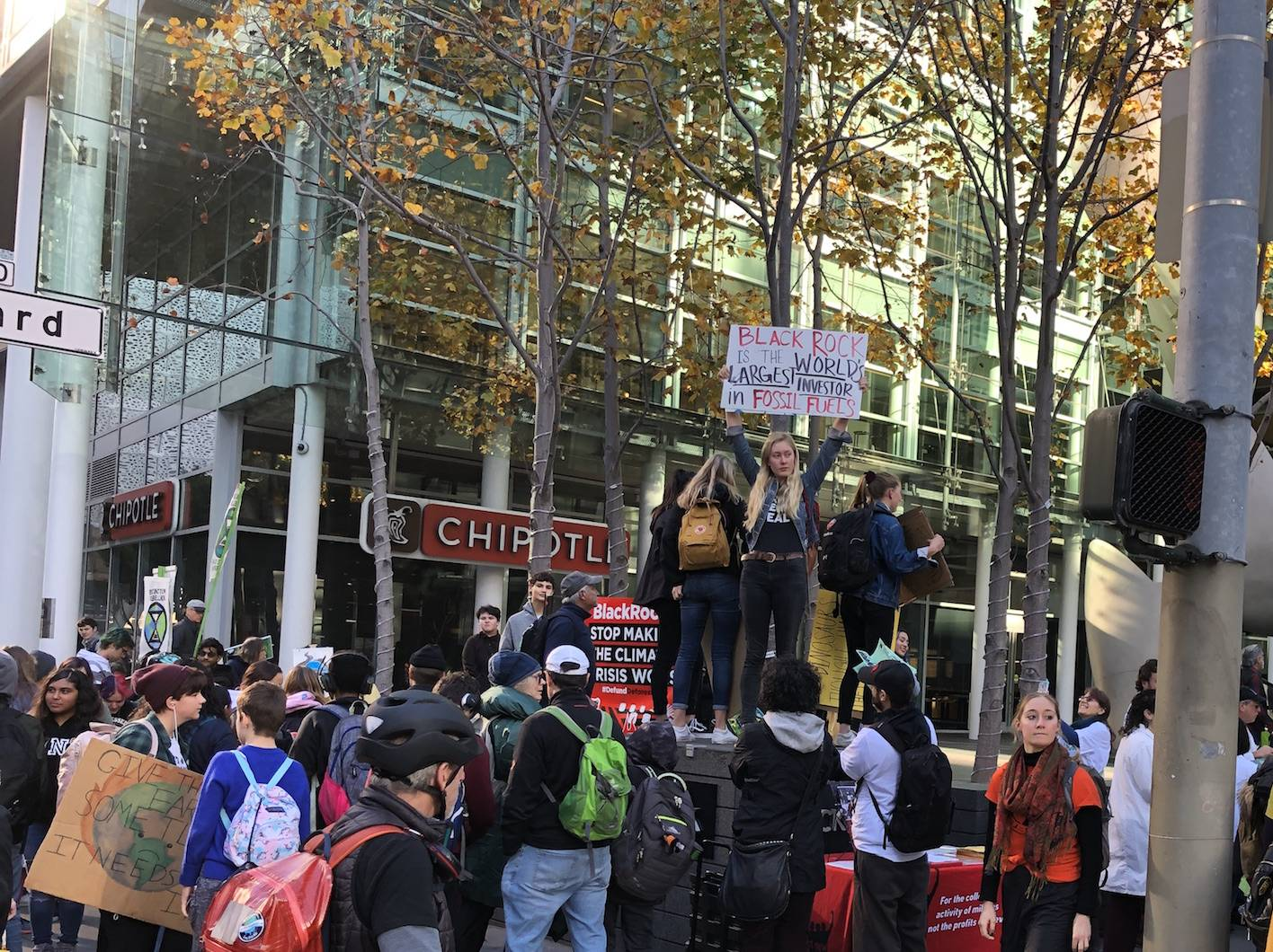 PHOTOS: Youth Climate Activists Protest Investment Giant BlackRock in San Francisco