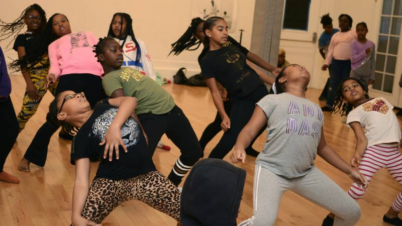 Dancers rehearse for a new production from The People's Conservatory called Kola: An Afro Diasporic Remix of The Nutcracker.