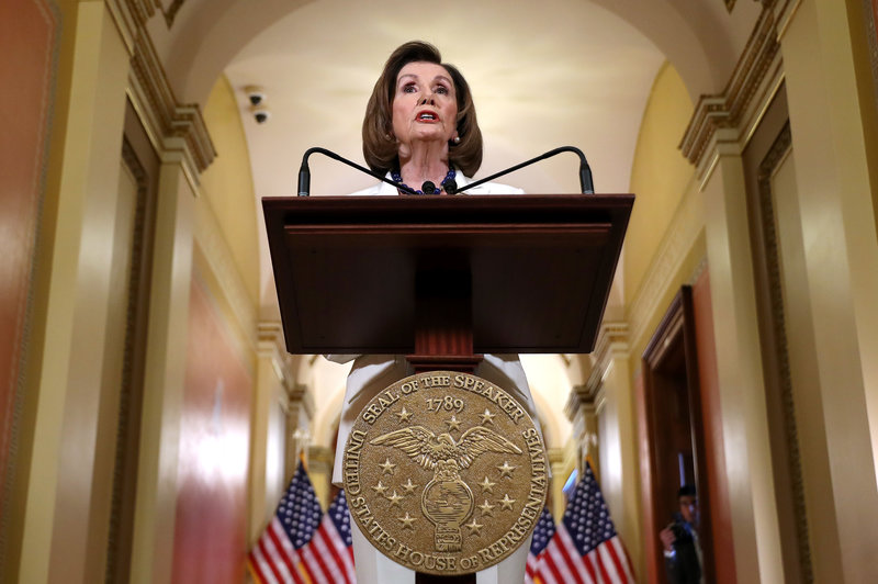 Pelosi Says House Democrats Will Draft Articles of Impeachment Against Trump