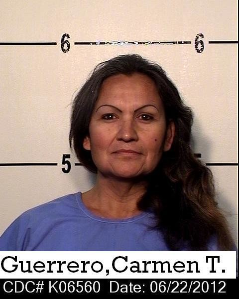A prison photo of Carmen Guerrero, a transgender woman killed by her cellmate at Kern Valley State Prison in late 2013. Her cellmate, Miguel Crespo, was sentenced to death in her murder in December 2019. Her family said in court that they didn't have any photos of Carmen because they were lost in a house fire.