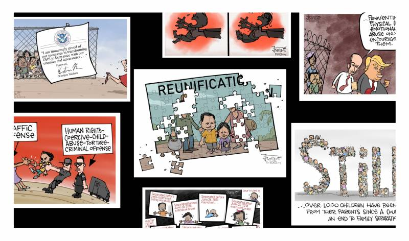 A Collection of Family Separation Cartoons on Fred Korematsu Day