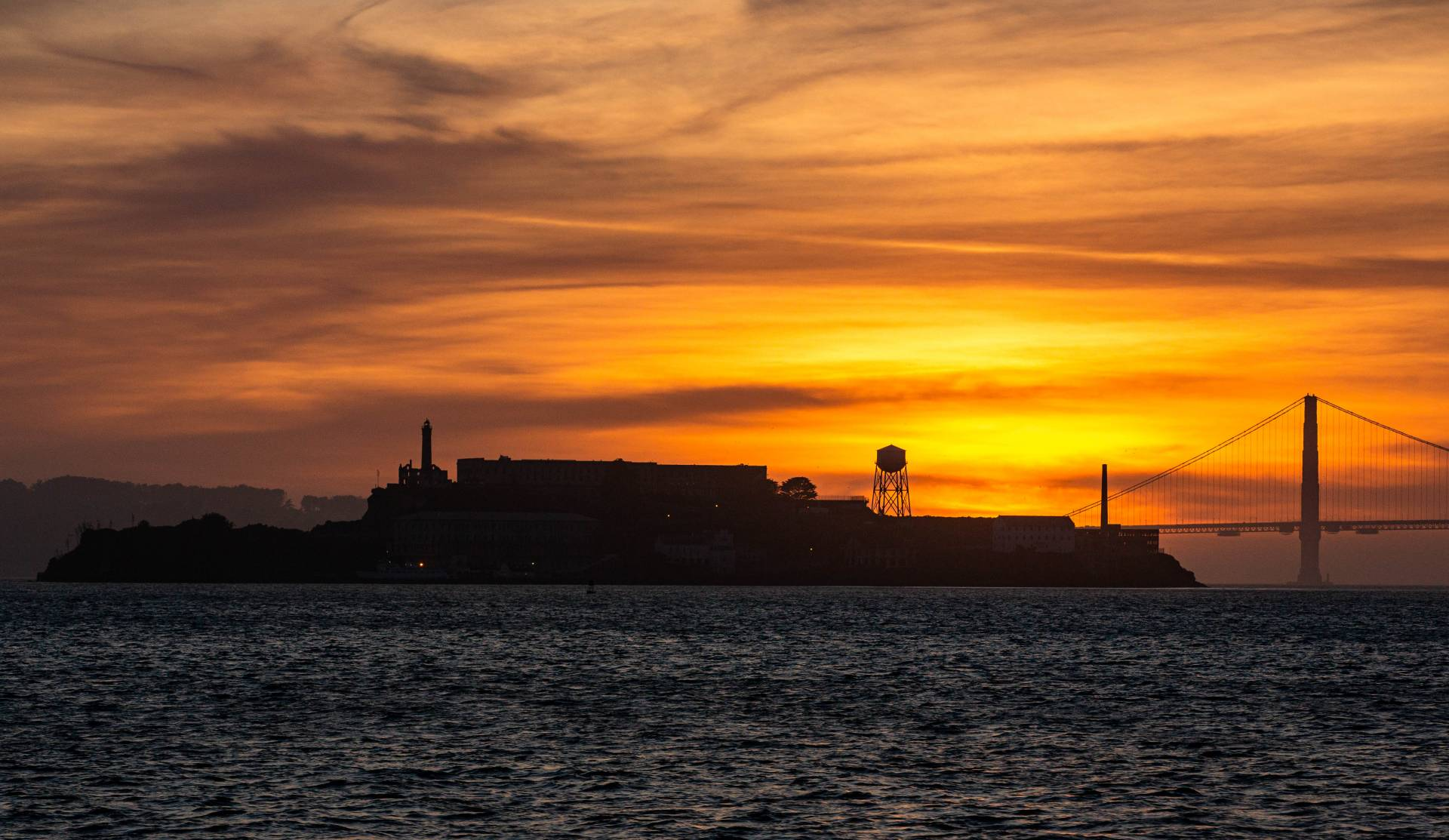 <strong>Red sky at night, rain lovers take fright</strong>: The Bay Area has seen plenty of memorable sunsets — this one silhouetting Alcatraz earlier this month — but little rain so far this winter. The outlook for the next several weeks is for continued dry weather.  Dan Brekke/KQED