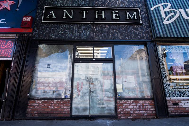 The Anthem shoe store sits empty in the Upper Haight.