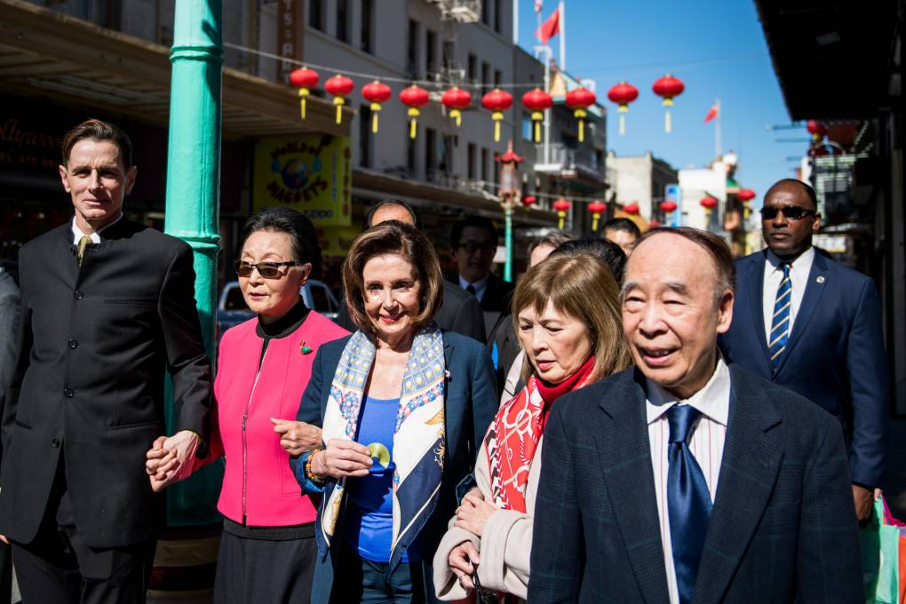 Pelosi Lunches in SF Chinatown, Lending Support to Businesses Amid Coronavirus Fears