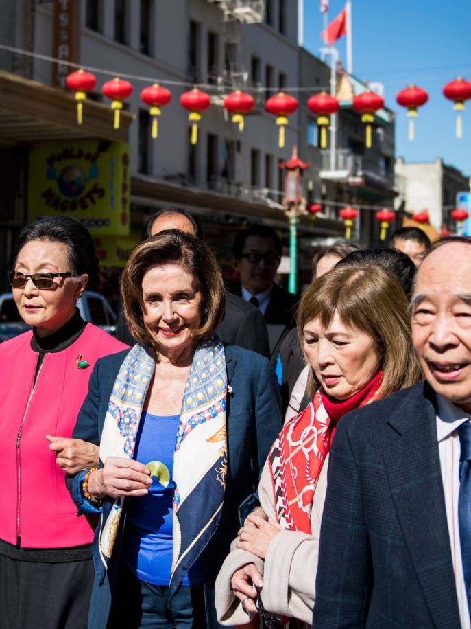 Pelosi Lunches in SF Chinatown, Lending Support to Businesses Amid  Coronavirus Fears | KQED