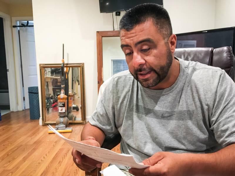 Rudy Coronado reading a letter from Carol.
