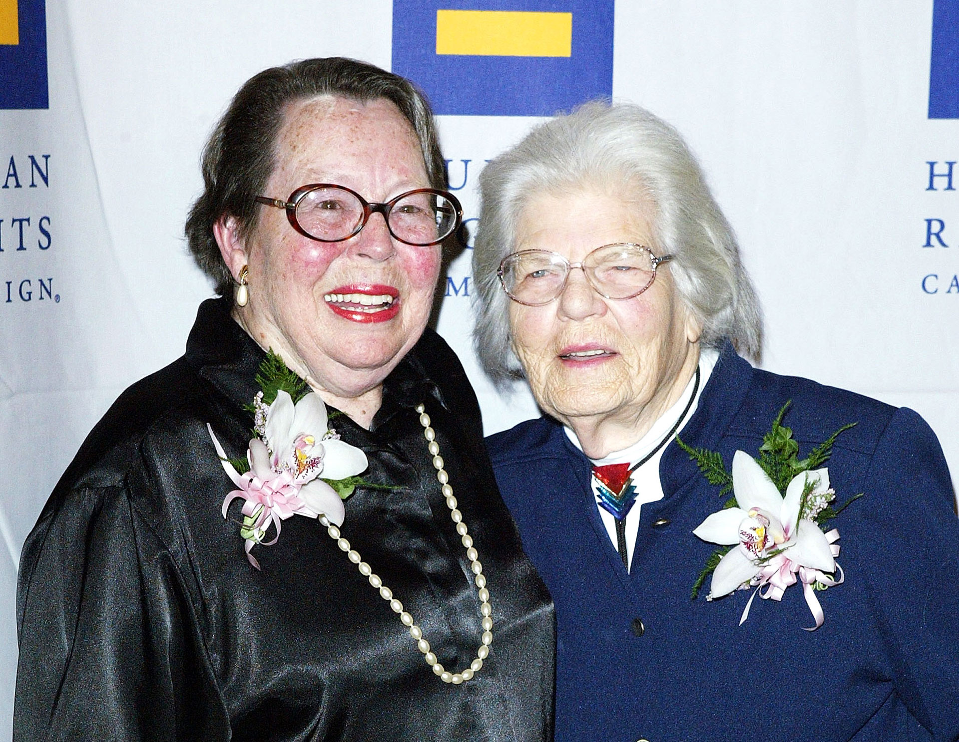 Phyllis Lyon (left) and Del Martin in 2004.