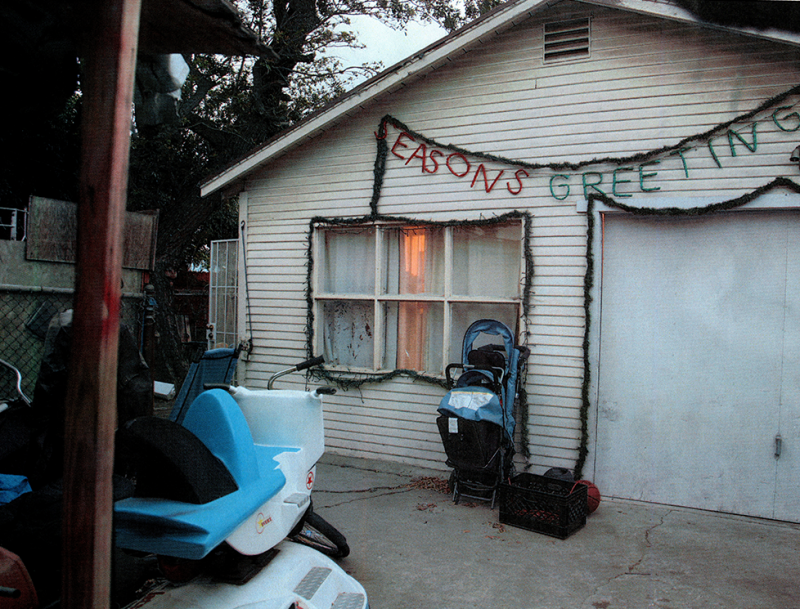 Outside the home of Carol and Rudy Coronado after she killed the couple's three daughters.