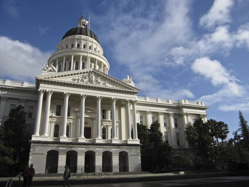 The Capitol building in Sacramento.