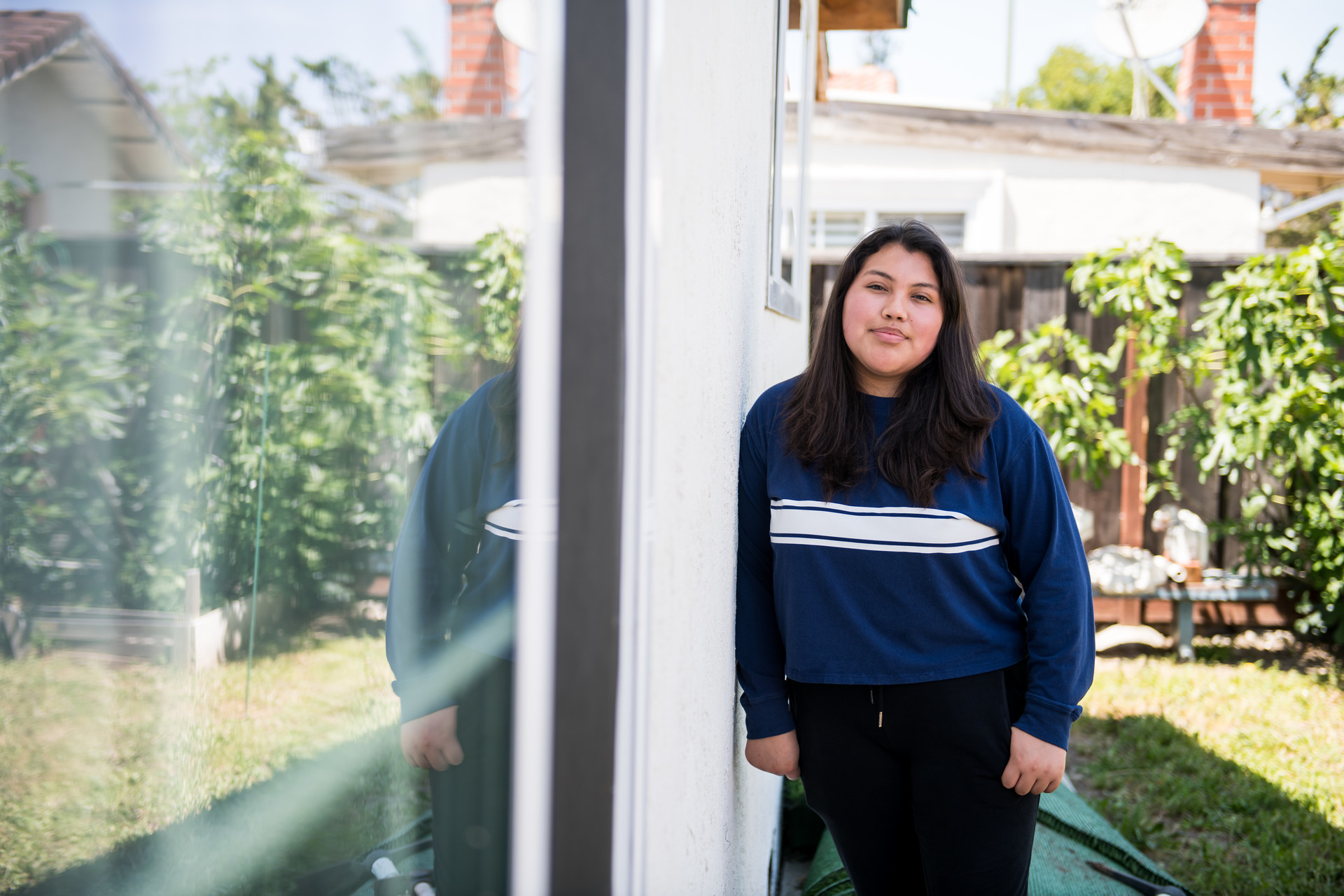Julisa Gomez Reyes, a high school junior, at her home in San Jose on April 6.