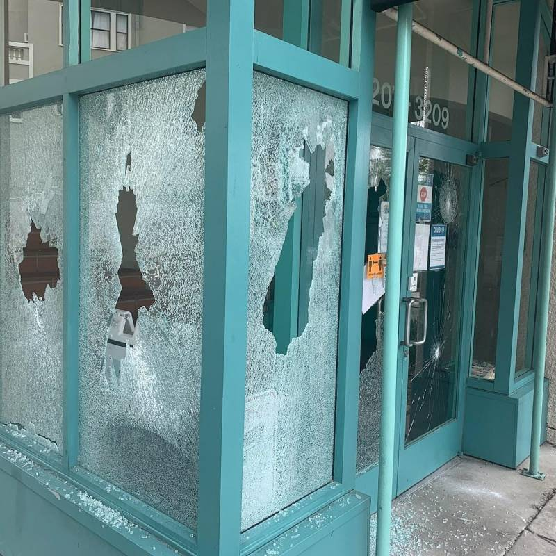 Oakland LGBTQ Community Center vandalized. Witnesses say a man approached the building Saturday morning and shattered its windows with a golf club while yelling racist and homophobic comments. The Oakland Police Department is investigating the incident.