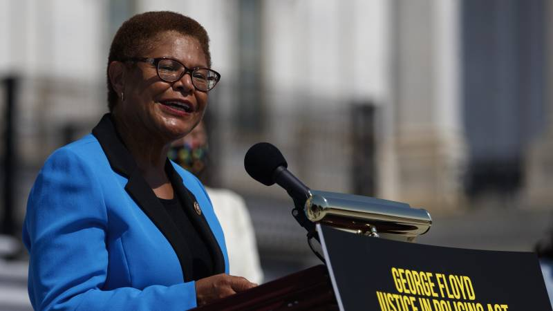 California Rep. Karen Bass was catapulted onto the national stage leading Democrats on police reform.