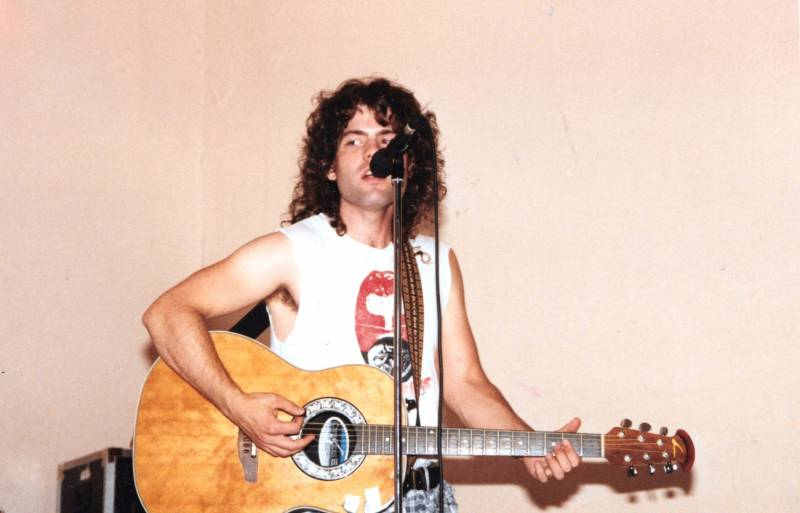 Ian Brennan performing in the '90s at the Hotel Utah Saloon in San Francisco.