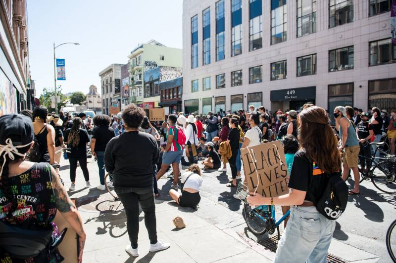 Bay Area Black women leaders held a rally to speak out against a Kentucky grand jury's decision not to charge any police officers for killing Breonna Taylor.