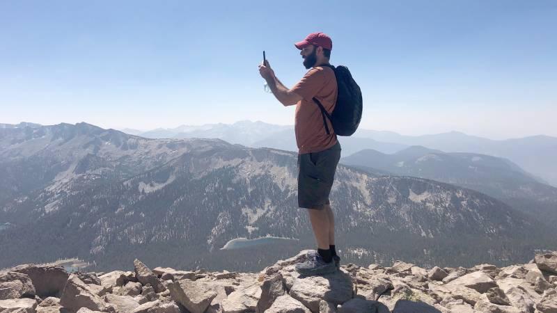 University of Southern California student David Atash says walking helps him manage his anxiety.