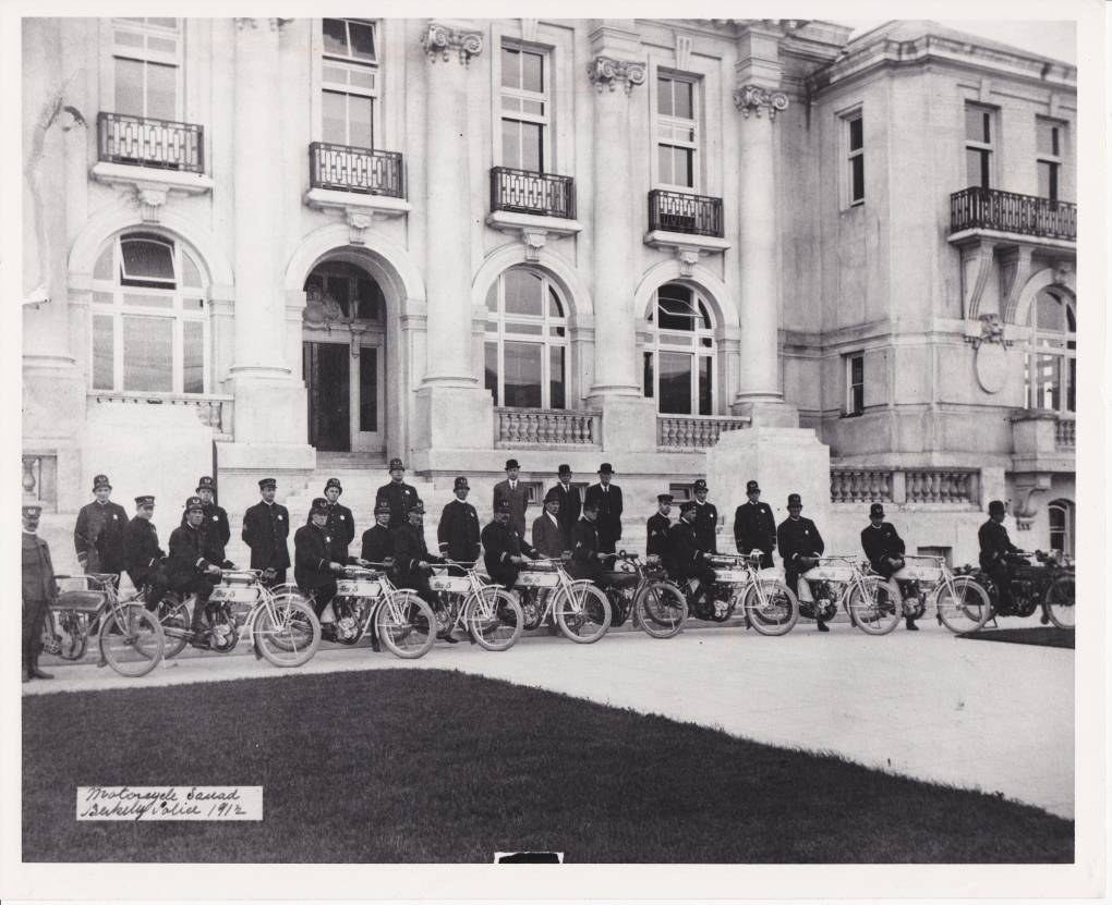 Berkeley Police Department motorcycle squad, 1912