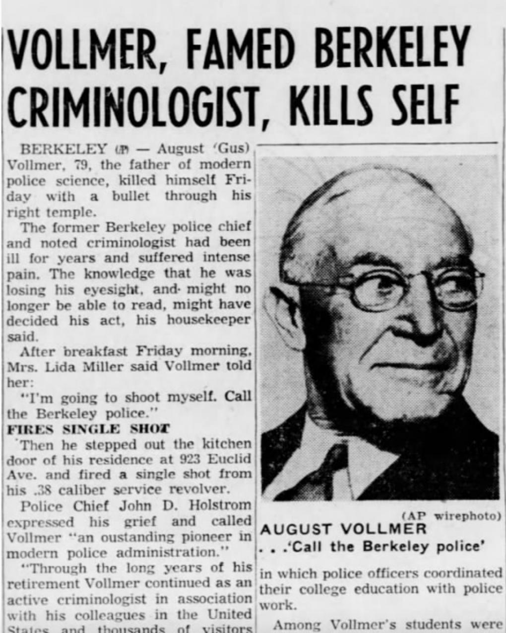 Vollmer's obituary