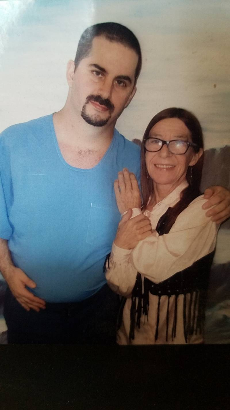 A prisoner in Corcoran and his mother.