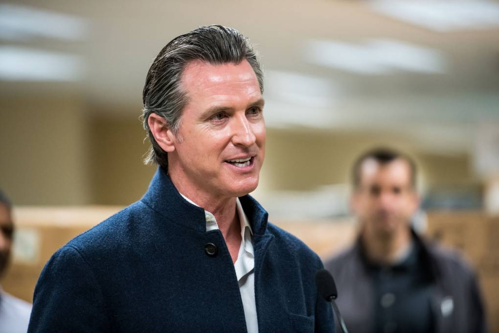 Gavin Newsom speaking