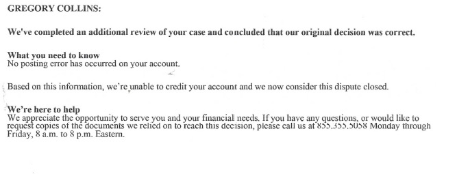 Denial letter from <a href=