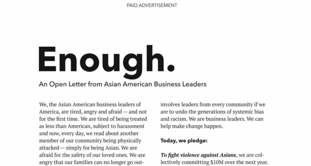 www.kqed.org: Thousands of Business Leaders Commit  Million to AAPI Organizations Fighting Racism