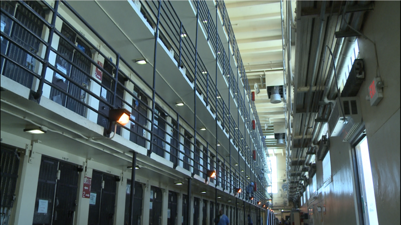 San Quentin tiers with open bars