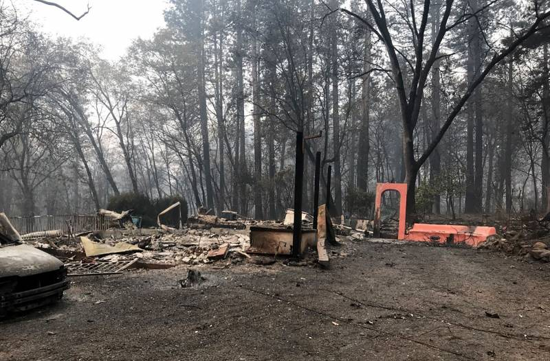 burned remnants of Cook family home in Paradise