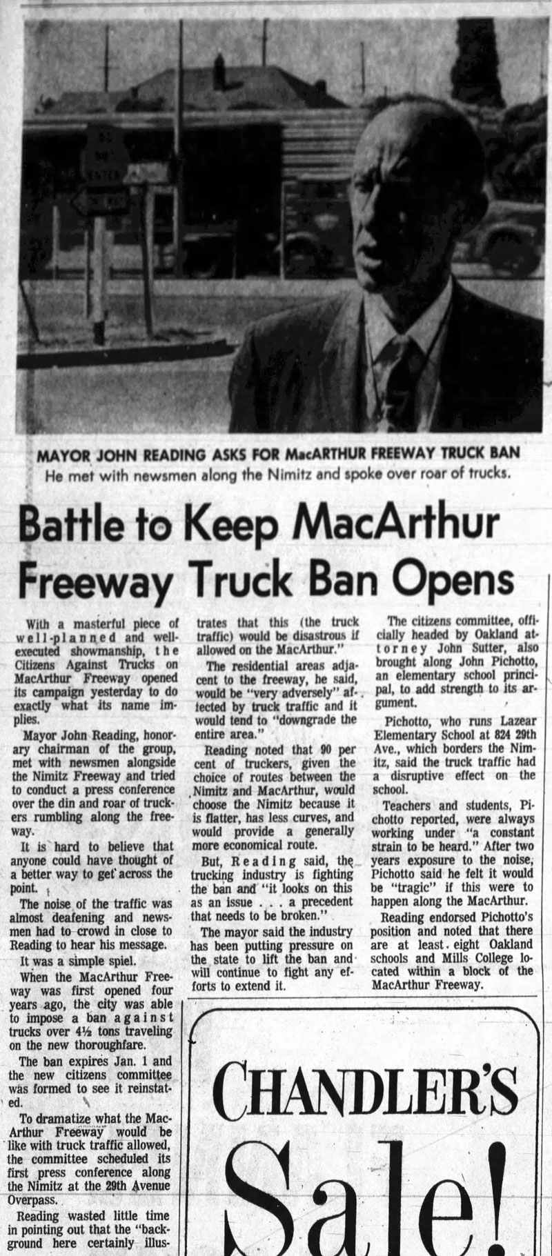 Oakland tribune article from July 4, 1967