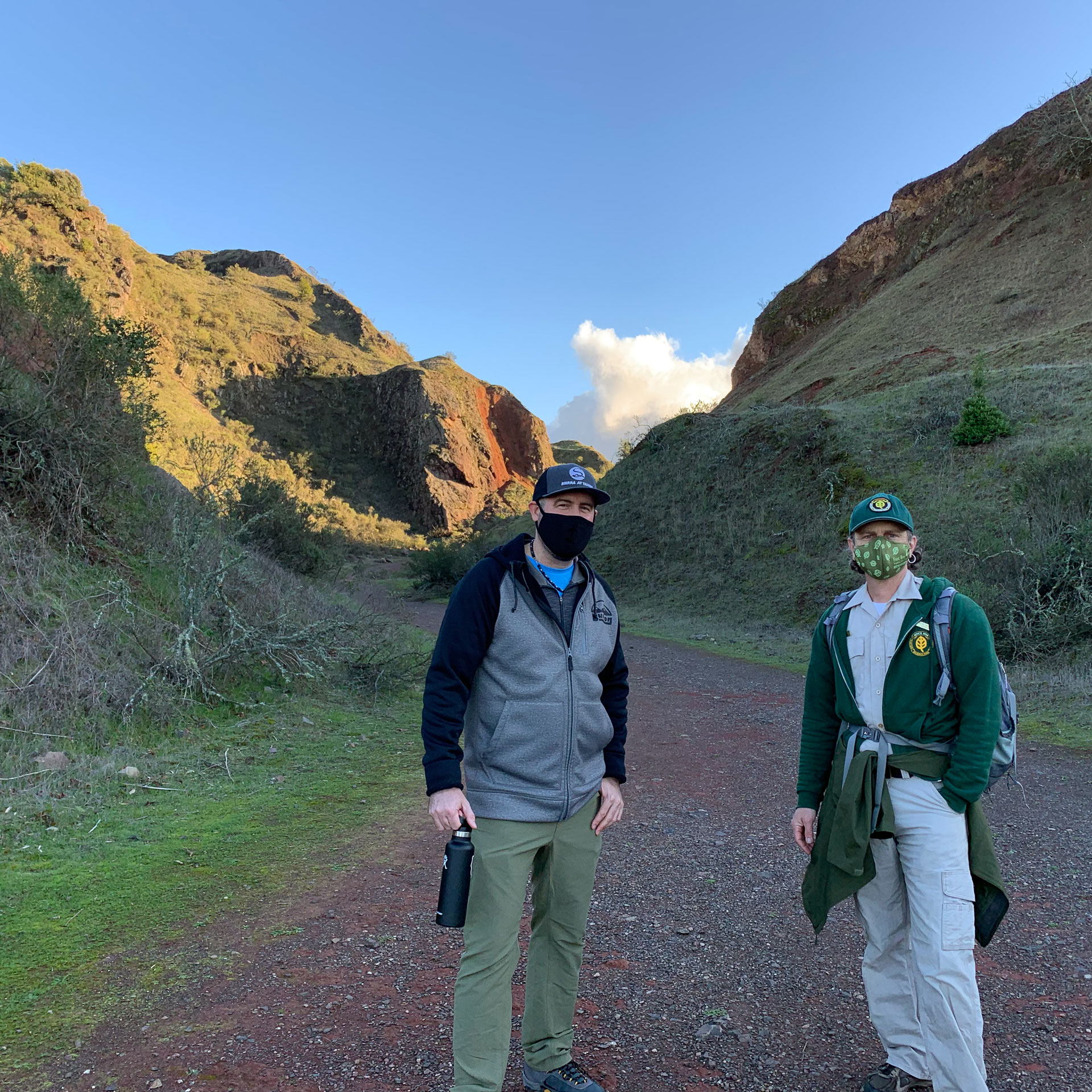 Bourke MacDonald and Michael Charnofsky at Sibley Volcanic Regional Preserve.