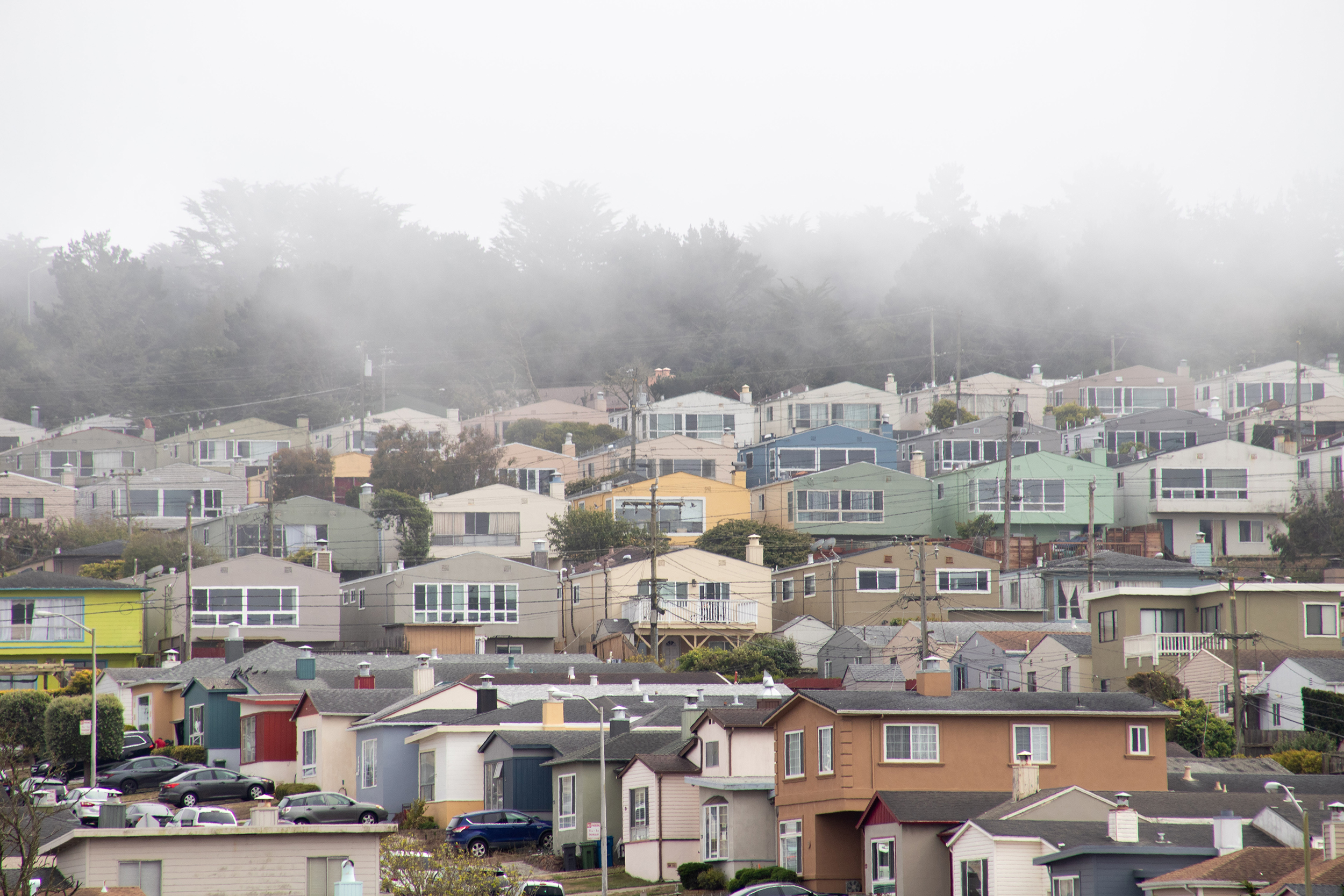 A view from the Saint Francis neighborhood in Daly City.