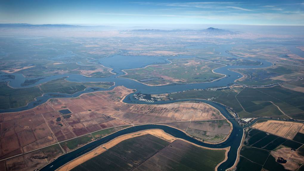 Aerial view of the Sacramento-San Joaquin Bay Delta. Two-thirds of Californians get some water from here. Mark Andrew Boyer/KQED