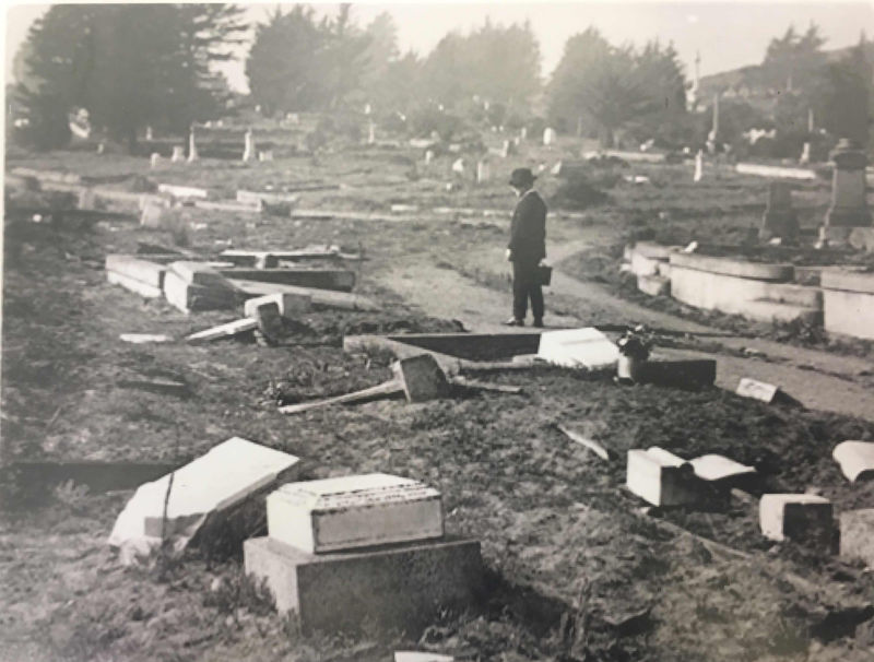 With no endowments to pay for upkeep, cemeteries like Laurel Hill pictured here, fell into ruin. (Colma Historical Association)