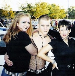 In high school, I tried 'goth' on for a day when we went to see The Cure