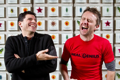 Max Brooks and Chris Hardwick © 2013 Photo by Jakub Mosur