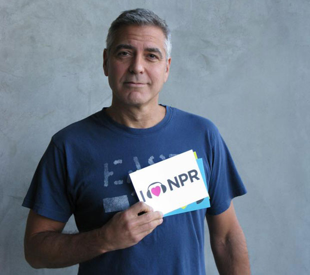 George Clooney hearts NPR.
