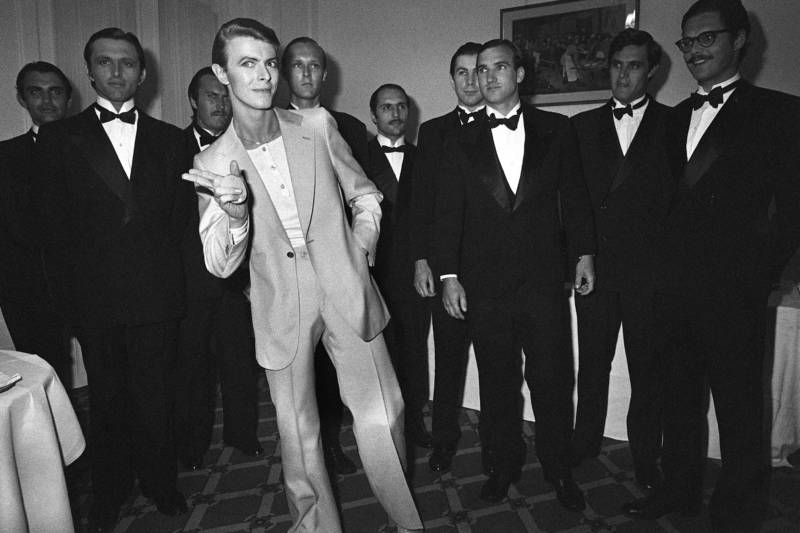 David Bowie at the 31th Cannes Film Festival on May 30, 1978.