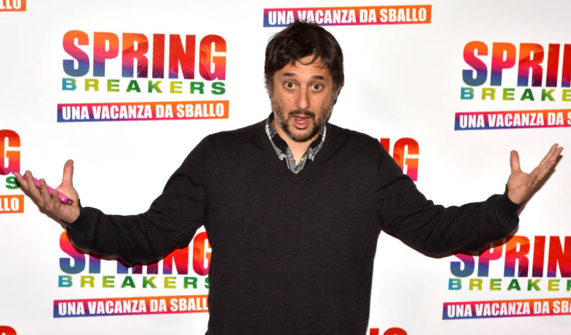 Harmony Korine poses during the photocall of 'Spring Breakers' in Rome, February 2013.