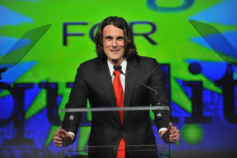 NFL player Chris Kluwe speaks onstage at the fifth annual PFLAG National Straight for Equality Awards, April 4, 2013 in New York City.
