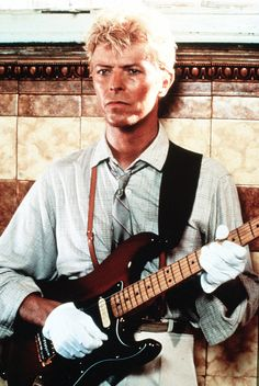 "Bowie in the ""Let's Dance"" video."