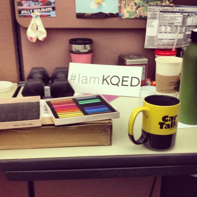 Supplies: hair chalk, water, positive attitude!