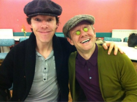 """Sherlock"" and ""John"" should totally ship. (via 3 Chick Geeks)"