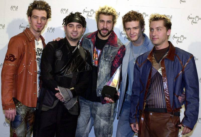 I don't know how 'N Sync ever made it- there's only like 2 1/2 cute ones. And their stylist should be arrested.
